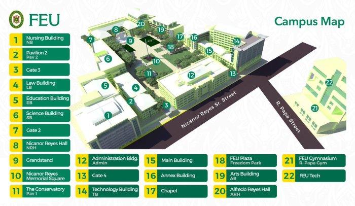 FEU Campus Map