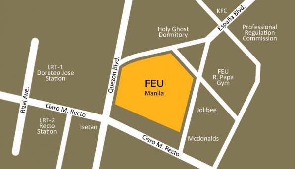 FEU Manila Map